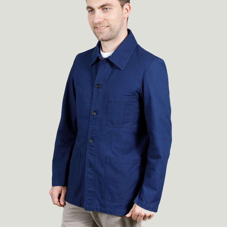 Workwear Jacket in twill fabric 1G/4 navy