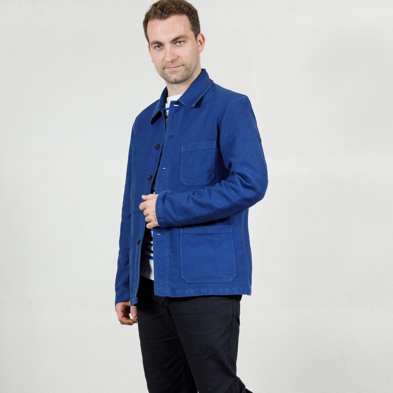Workwear jacket in washed moleskin 3M/5E hydrone