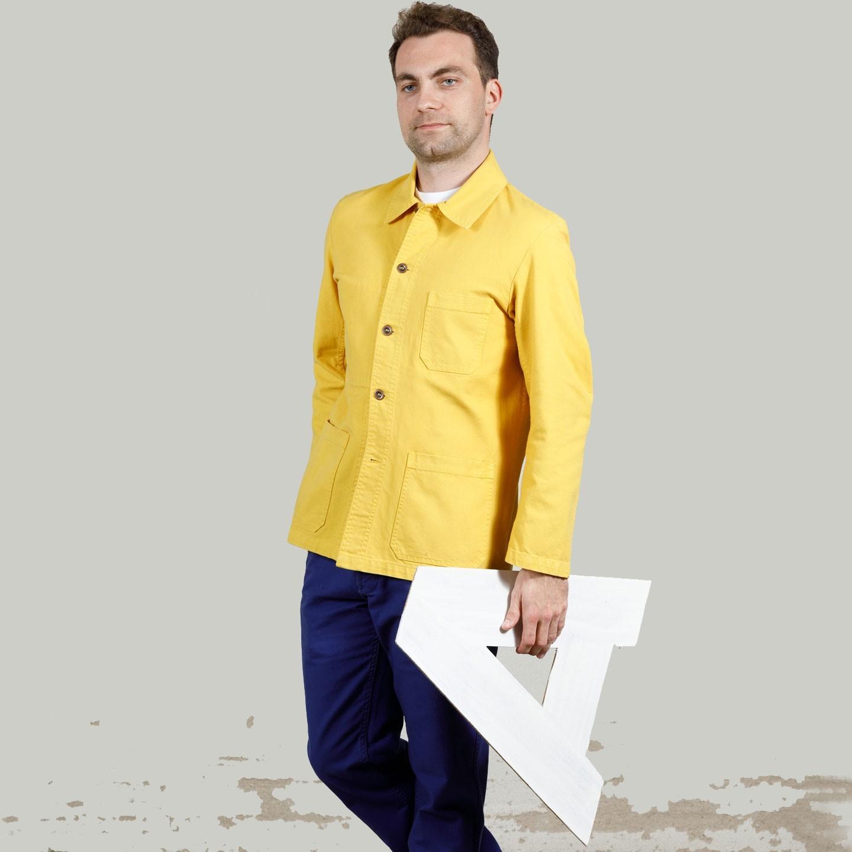VETRA Workwear Jacket in organic cotton twill fabric 1C/5C pineapple