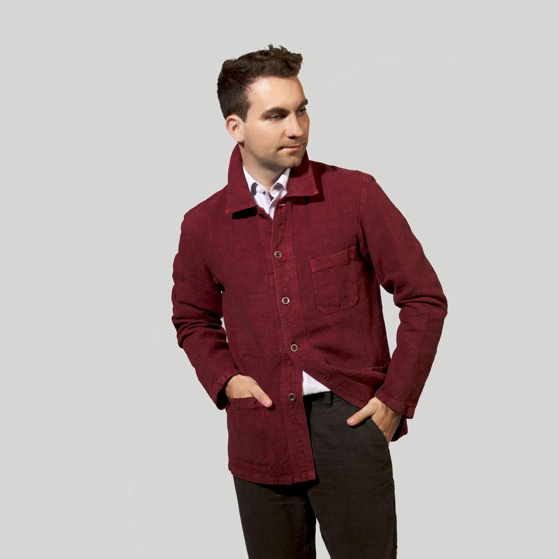 Short Jacket in heavy linen fabric 2L/5C