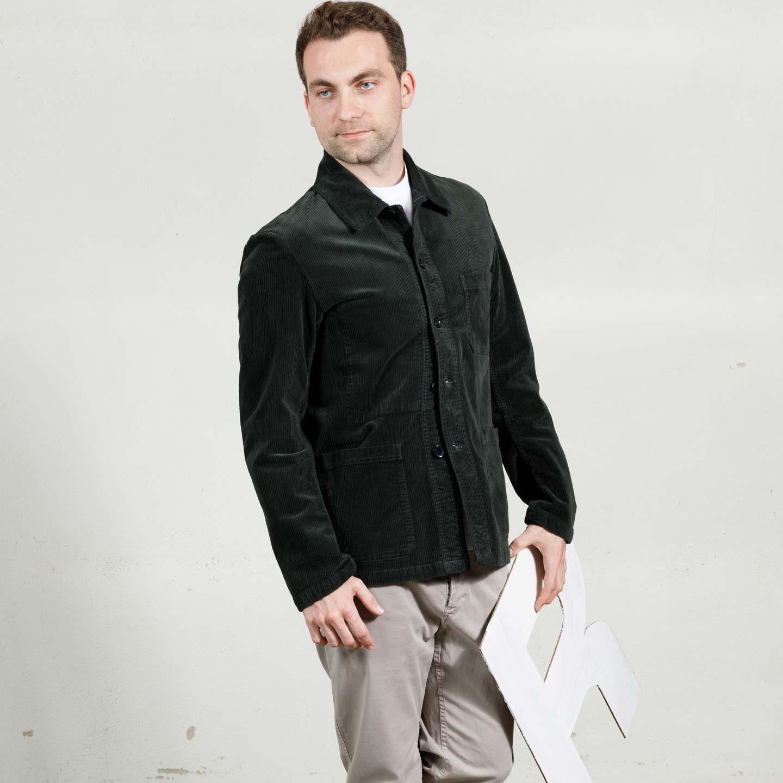 Soft Corduroy Workwear Jacket 2B/5 Elk