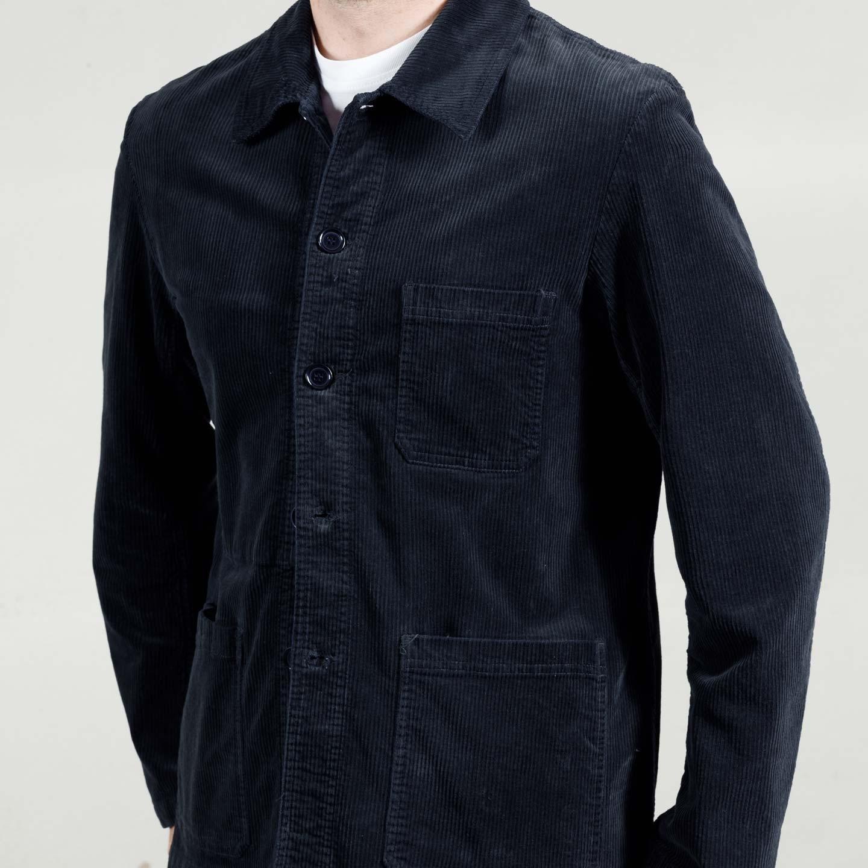 Veste workwear en Velours Souple 2B/5 Navy