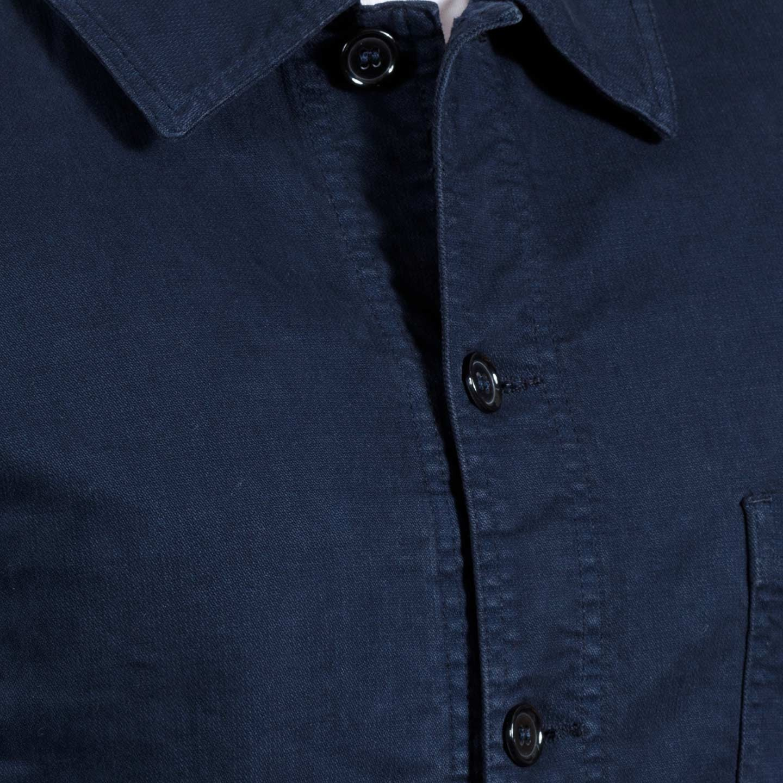 Veste workwear à tissu sergé irrégulier 2A/5C navy