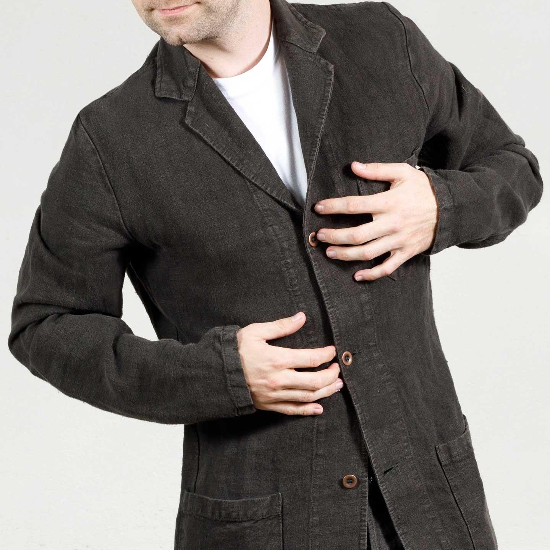 Workwear Blazer in Heavy Linen fabric 2L/24 elk