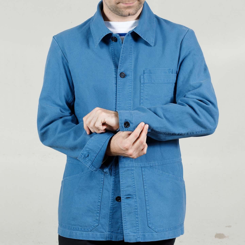Organic Cotton Workwear Jacket with Cuffs 1G/8B indigo