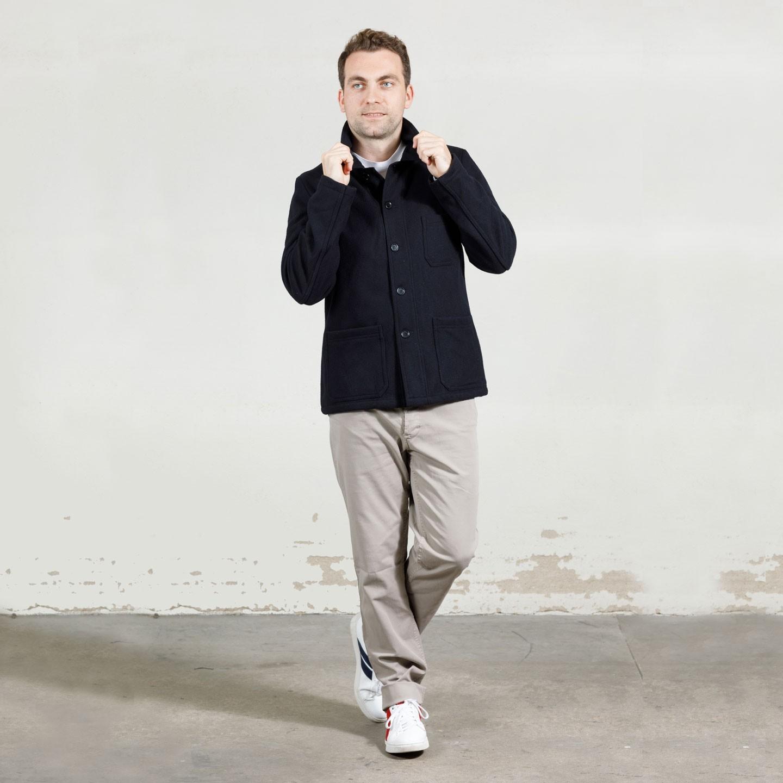 Men's Jacket in Felted Melton wool 3E/5G