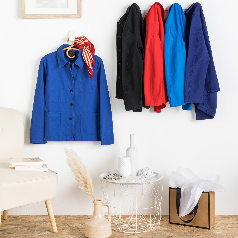 Workwear jacket in organic twill fabric 1G/4F