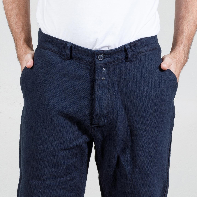 Workwear Herringbone Wide-Legged pants 1A/503L navy