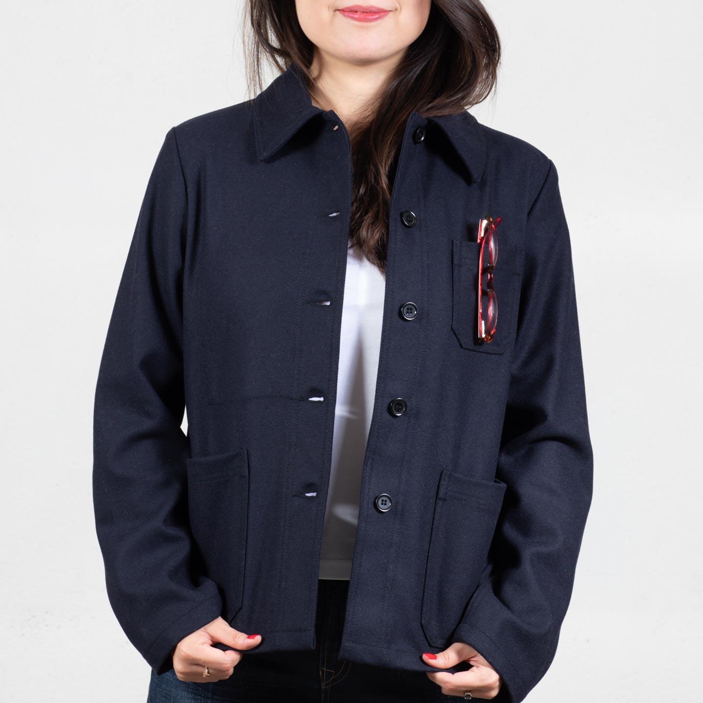Veste femme en drap de laine 2F/4F