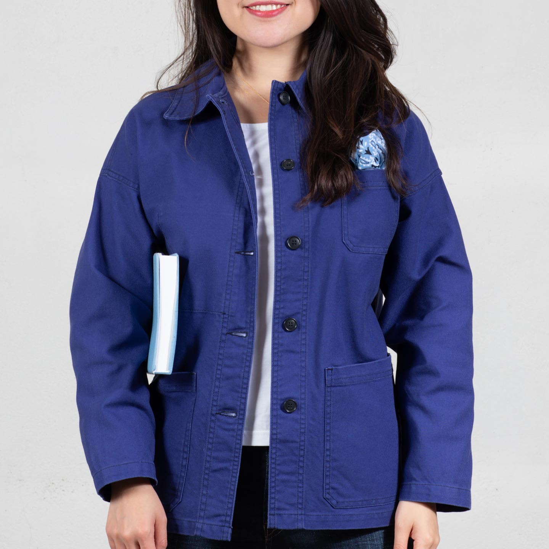 Drop-Shoulders Workwear Jacket in organic cotton 1G/6F