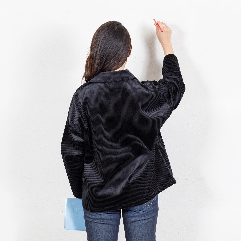 Manteau femme drop-shoulders en velours côtelé 9L/2006F