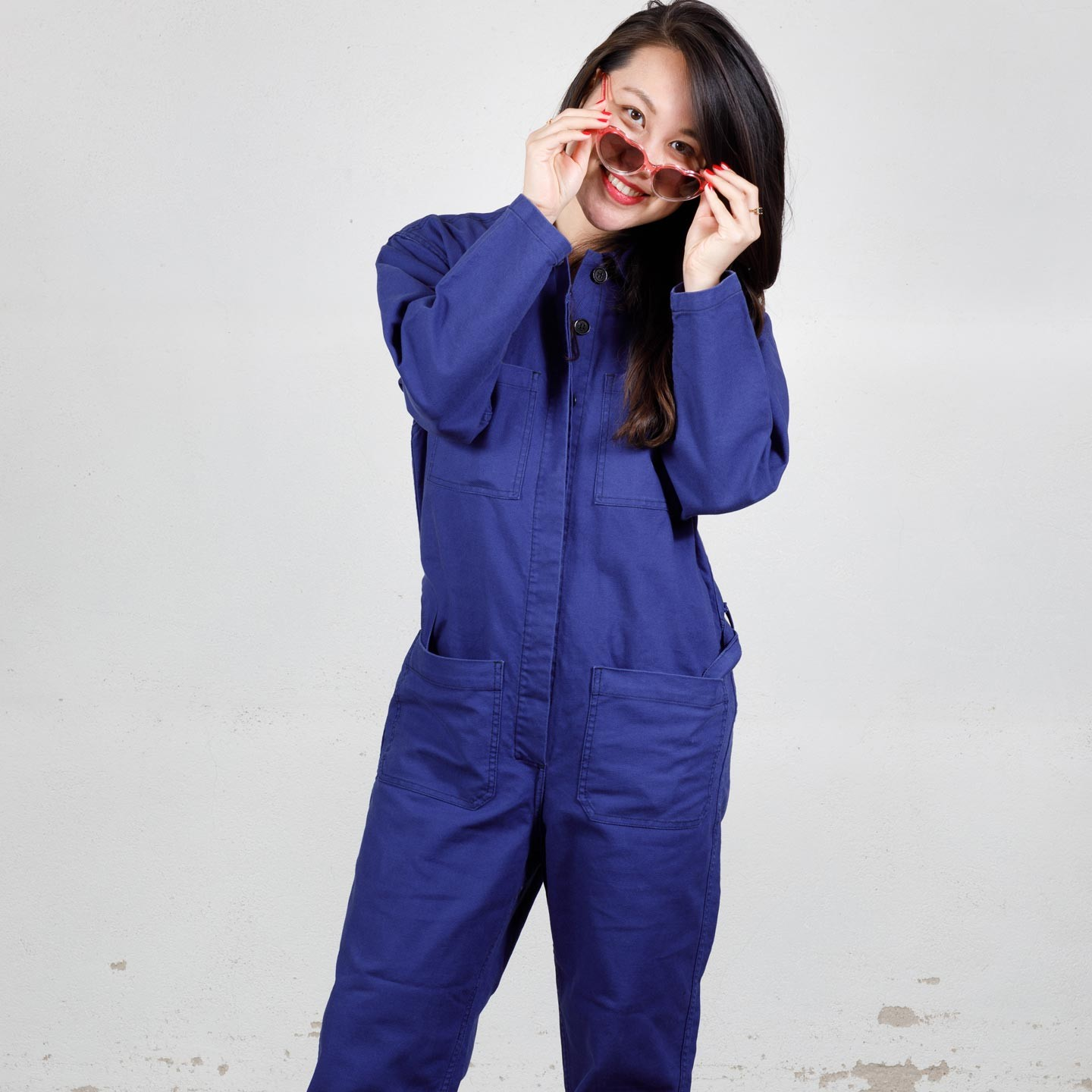 Loose overall in organic cotton 1G/213F